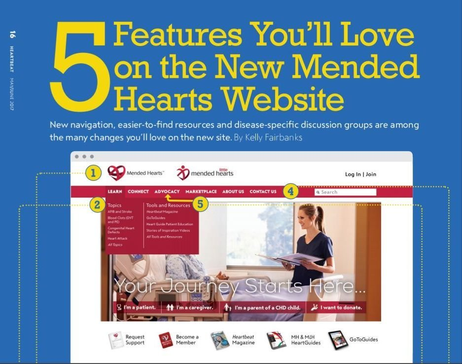 5 things you'll love on the new mended hearts website